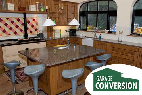 Convert your garage into a kitchen